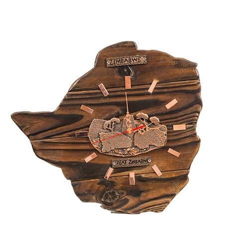 Zimbabwe Bronze Clock 2 African Collectables