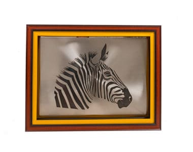 Zebra Portrait African Collectables