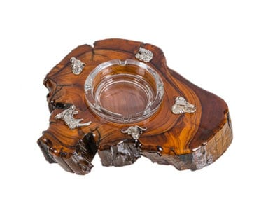 Wooden Piece Ashtray African Collectables