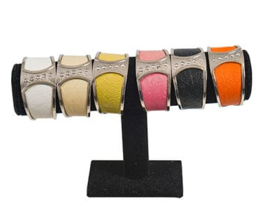 Leather and Silver Bracelets African Collectables