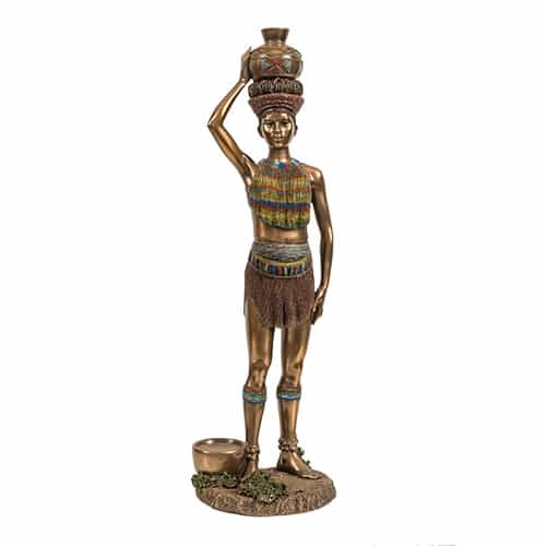 Tribal Woman Statue African Collectables