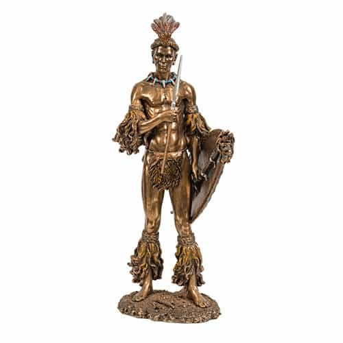 Tribal Warrior Statue African Collectables