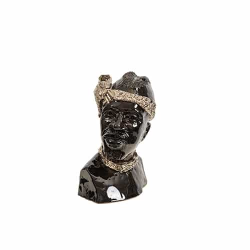 Male Bust in Ebony African Collectables