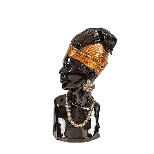 Female Bust with Headpiece African Collectable