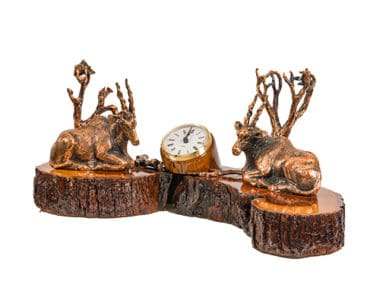 Desk Clock with Sable African Collectables