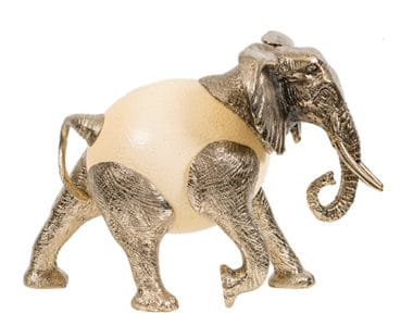 Elephant Ostrich Egg African Collectables