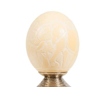 African Engraved Ostrich Egg African Collectables