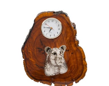 Leopard Clock African Collectables