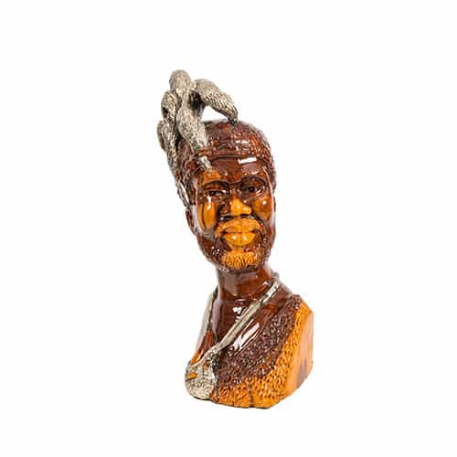Male Bust with Featured Headpiece African Collectables