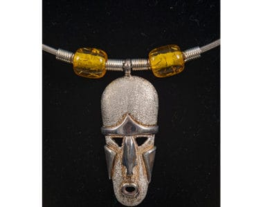 African Mask with Beads African Collectables