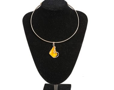 Yellow Stone Necklace African Collectables