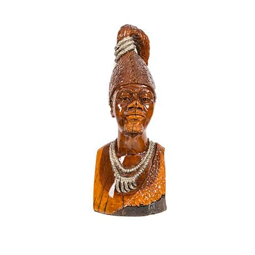 Male Bust with Long Headpiece African Collectables