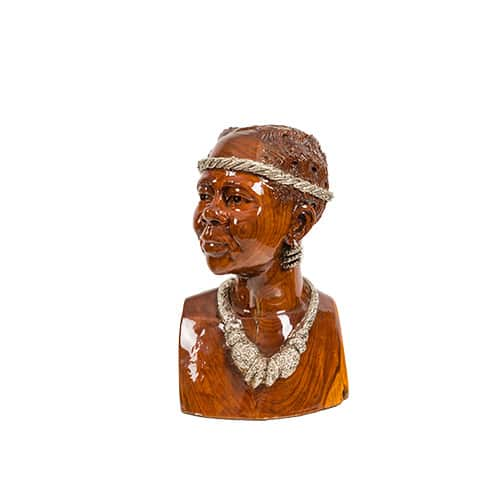 Female Bust with featured Necklace African Collectables