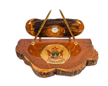 Zimbabwe Coat of Arms Full Desk Set African Collectables