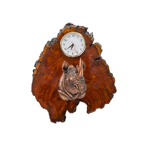 Rhino Clock African Collectables