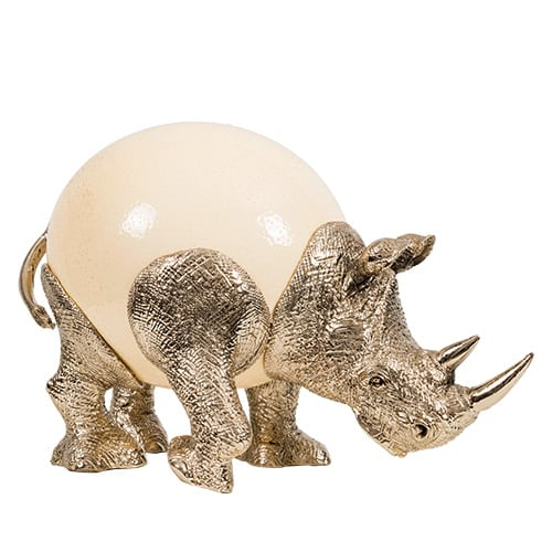 Rhino Ostrich Egg African Collectables