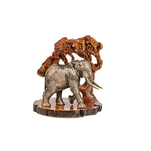Elephant Walking Silver African Collectables