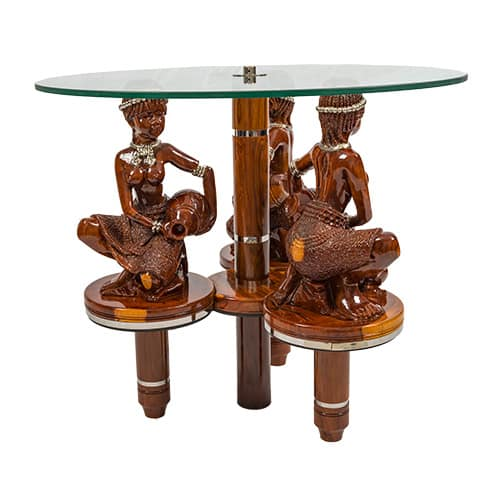 Tribal Woman Table African Collectables