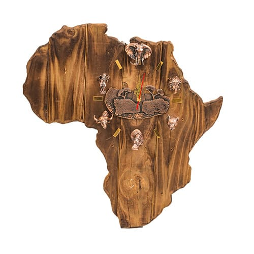 Africa Bronze Clock African Collectables