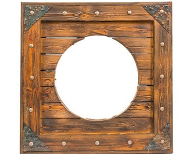 Wooden Mirror African Collectables