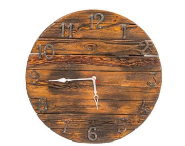 Regular Wooden Clock African Collectables