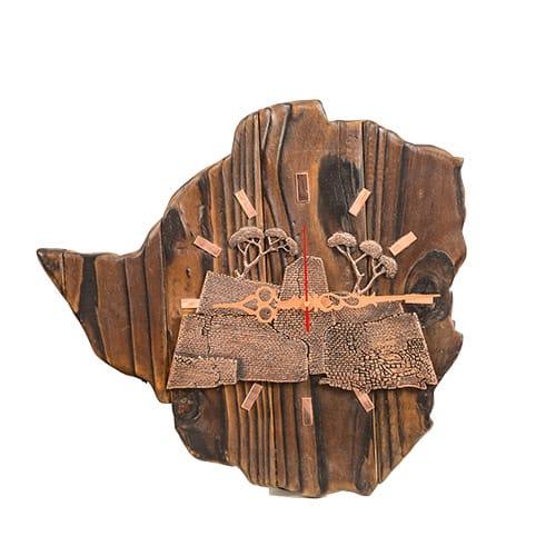 Zimbabwe Bronze 1 Clock African Collectables