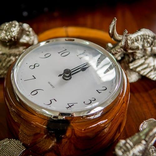 Big 5 Bronze Clock African Collectables