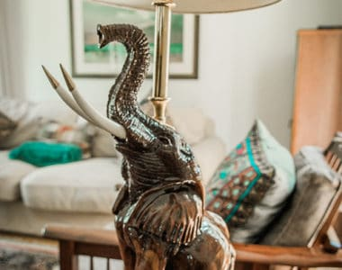 Elephant Light Stand African Collectables
