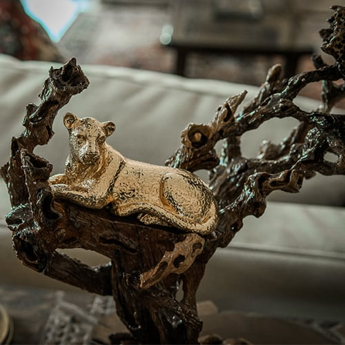 Leopard In A Tree African Collectables