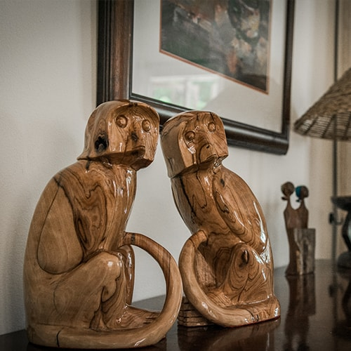 Monkey Carving African Collectables