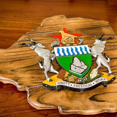 Zimbabwe Coat of Arms Wall Art African Collectables